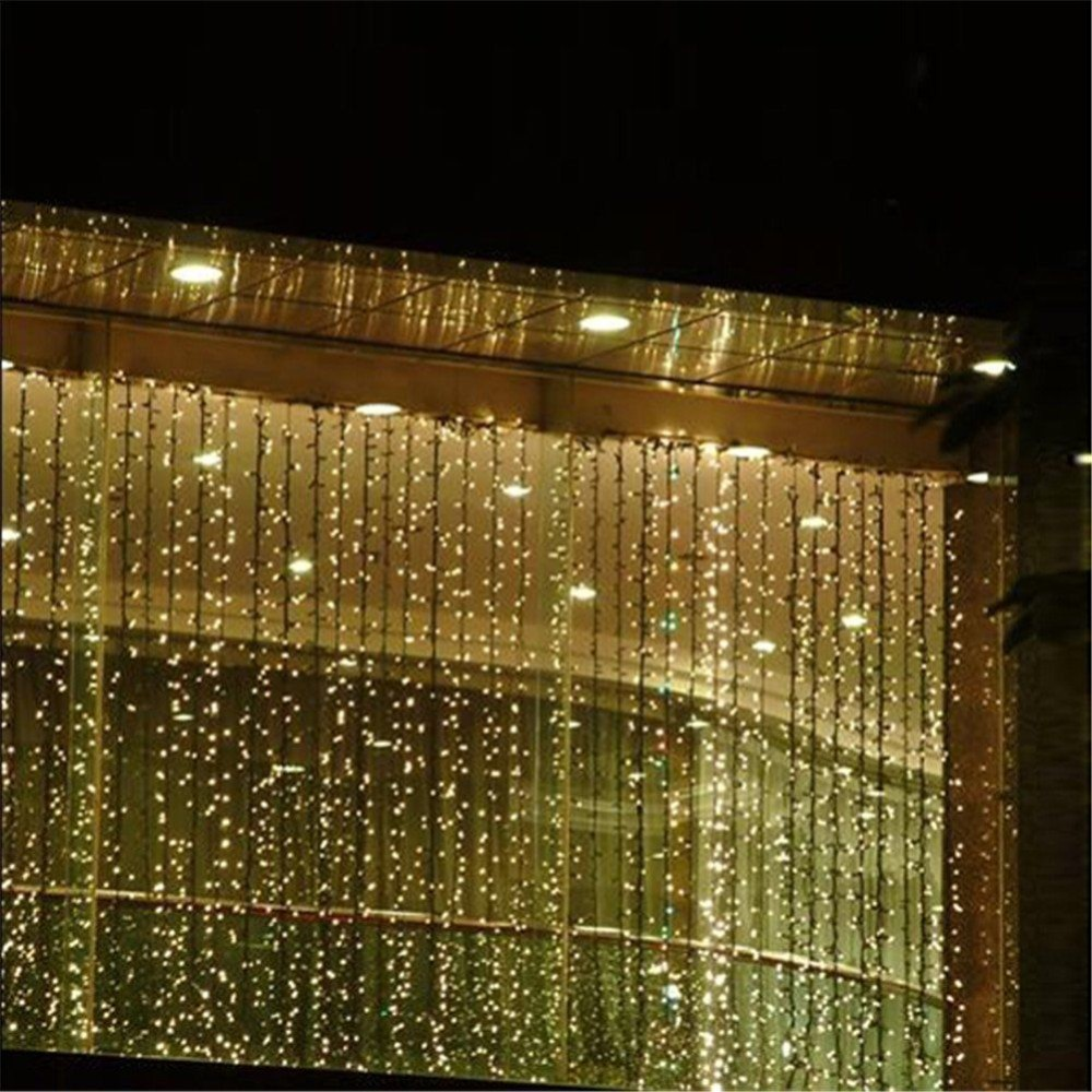 3Mx1.5M LED Curtain String Light Wedding Party Fairy Lights Christmas Garden Handrail Holiday light  Decoration US EU Plug