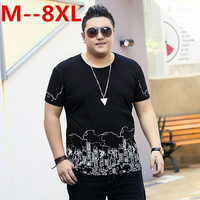 10XL 8XL 6XL 5XL 4XL 2018 Brand Fashion Casual Men T Shirt Summer Short Sleeve O