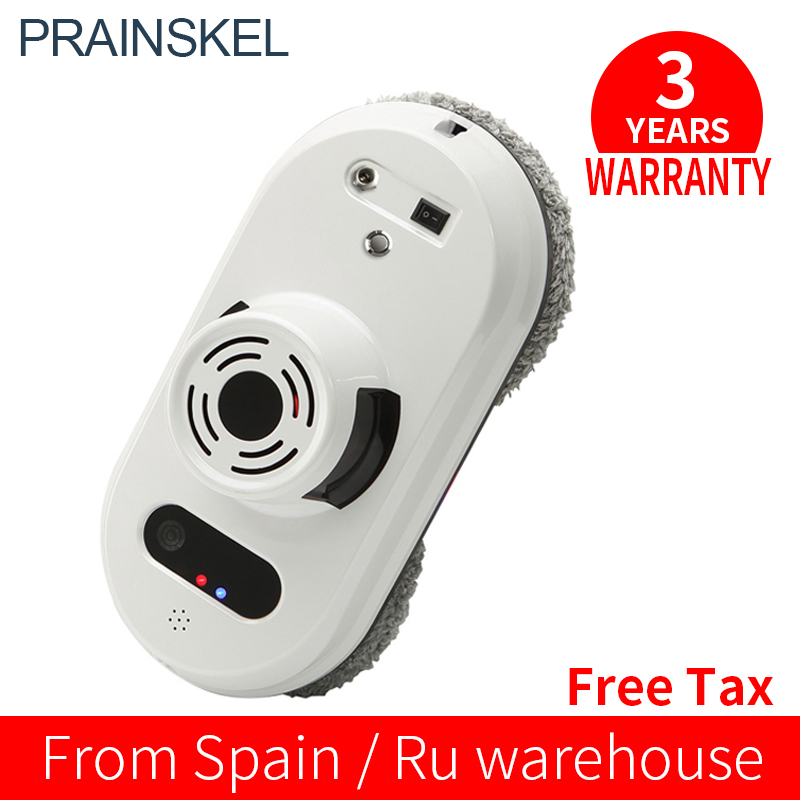 Prainskel Window Cleaning Robot Window Robot Vacuum Cleaner Remote Control Magnetic Glass Cleaning Robot Framed Window
