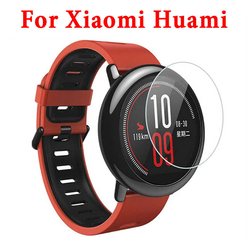 3pcs On For Xiaomi Huami Amazfit Sports smart wristwatch Cases Cover 9 H Hardness Anti Shatter Screen Protector Tempered Glass