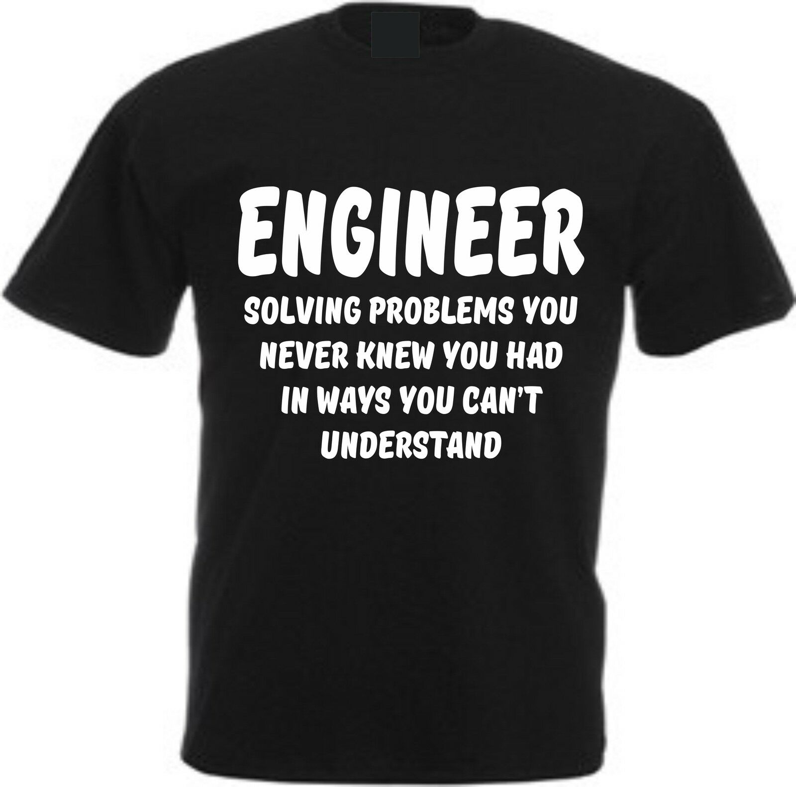ENGINEER SOLVING PROBLEMS YOU NEVER KNEW YOU HAD FUNNY COTTON T SHIRTcustom Environmental printed Tshirt cheap wholesale