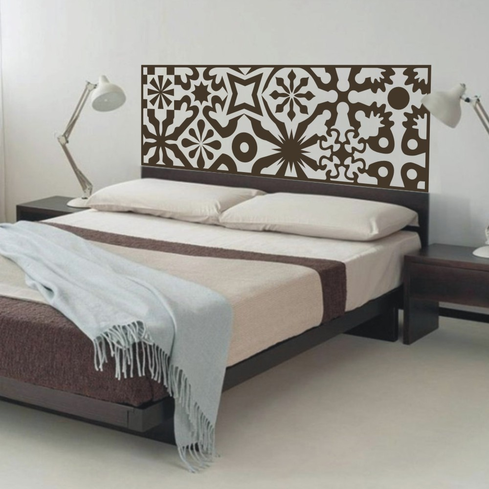 buy quilted headboard wall decal vinyl. Black Bedroom Furniture Sets. Home Design Ideas