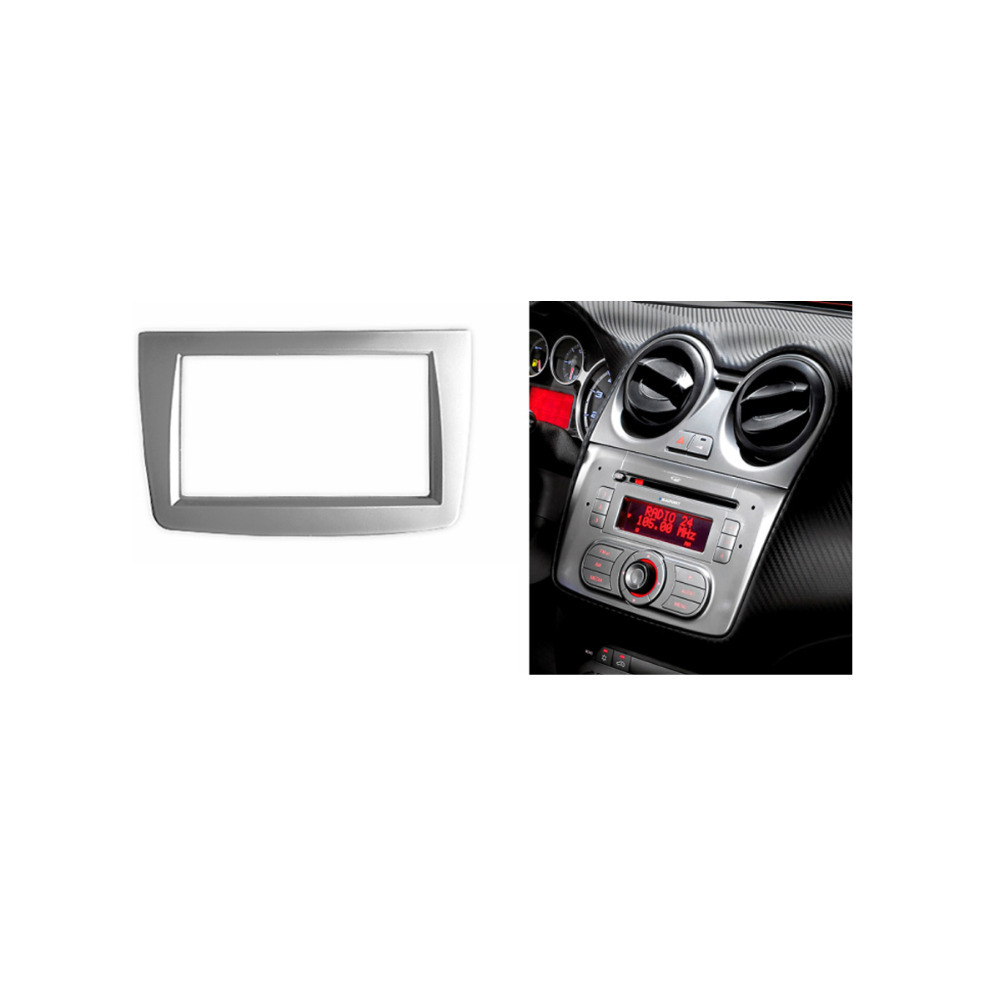 Double 2 Din Fascia For  ALFA ROMEO MITO Radio DVD Stereo Panel Dash Mount Trim Kit Frame Surroud Plate Bezel dali sub k 14 f white