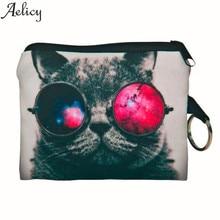 Aelicy 2018 New Cute Cat Face Zipper Coin font b Purse b font female Girl Printing