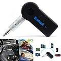 2016 Handfree Bluetooth Car Receptor de Música Sem Fio Bluetooth Estéreo de 3.5mm de Áudio AUX Adaptador Receptor de Música Carro Para Casa Microfone