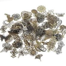 ¡Envío Gratis! 30 Uds. De filigrana metálica variada de bronce envejecido, conectores de regalo de artesanía metálica, decoración DIY