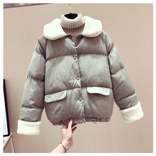 Winter Jacket Women Lamb Parkas Fur Parka Puffer Gothic Harajuku Kawaii Korean Bubble Coat Womens Coats