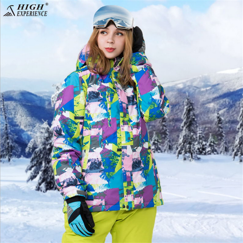 HIGH EXPERIENCE Winter Ski Jacket+Pant Women Waterproof Snowboard Suits Climbing Snow Female Skiing Clothes Suit Set GirlsHIGH EXPERIENCE Winter Ski Jacket+Pant Women Waterproof Snowboard Suits Climbing Snow Female Skiing Clothes Suit Set Girls