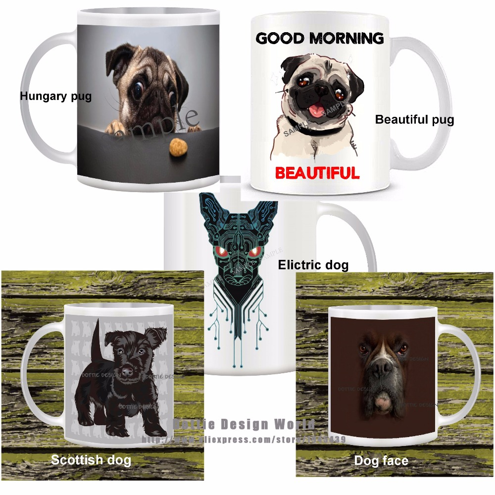Cute dog funny novelty travel mug ceramic white coffee tea for Birthday gifts for travel lovers