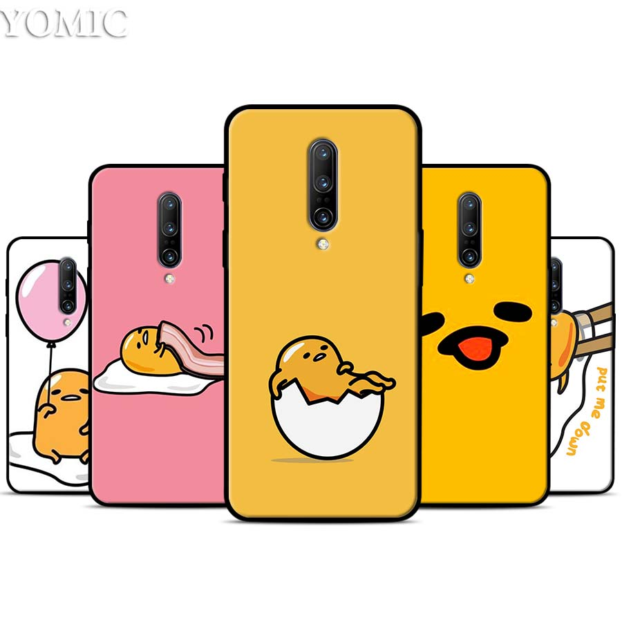 lovely gudetama lazy egg Silicone Case for font b Oneplus b font font b 7 b