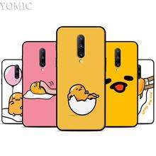 lovely gudetama lazy egg Silicone Case for Oneplus 7 7Pro 5T 6 6T Black Soft Case for Oneplus 7 7 Pro TPU Phone Cover
