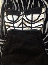 2 Piece Off Shoulder Set Bandage Dress And White Black Pencil Dresses