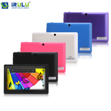 "Irulu expro x1 7 ""tablet pc android 4.4 quad core 1024*600 hd 16 gb rom google play app wifi de doble cámara de tablet más barato"