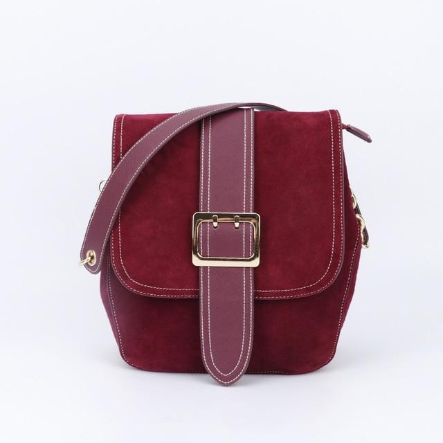 2018 Autumn Winter Brand Designer Saddle Bag For Women Shoulder Genuine Leather Las Crossbody