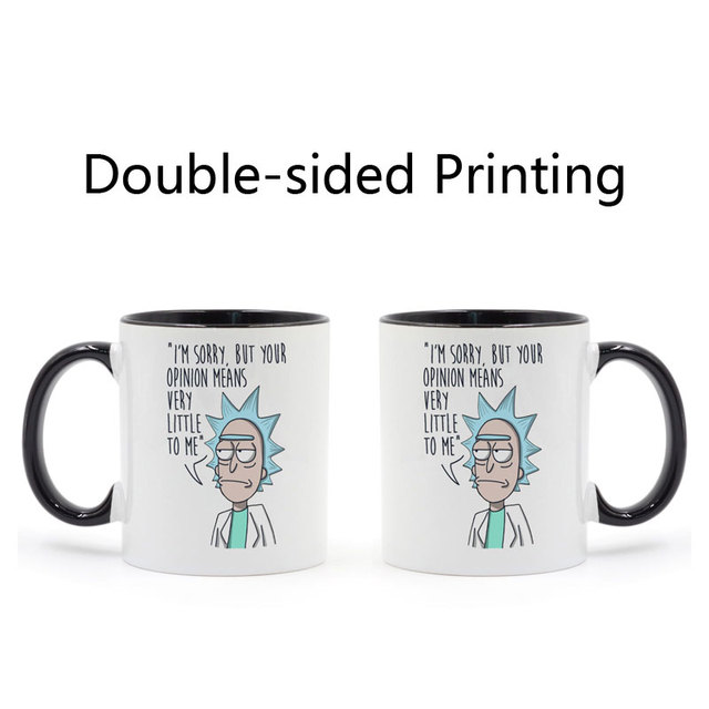 Rick And Morty Funny Mug Black Handle Black Inside Coffee Ceramic Cup Creative Gifts 11oz C212 2