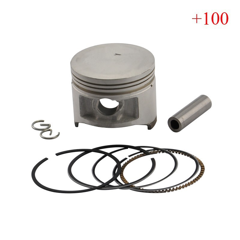 ФОТО XC125 XV250 Piston Kit with Rings High Performance Motorcycle Piston For XC 125 XV 250 (+100) 1mm Oversize Bore Size 50mm New