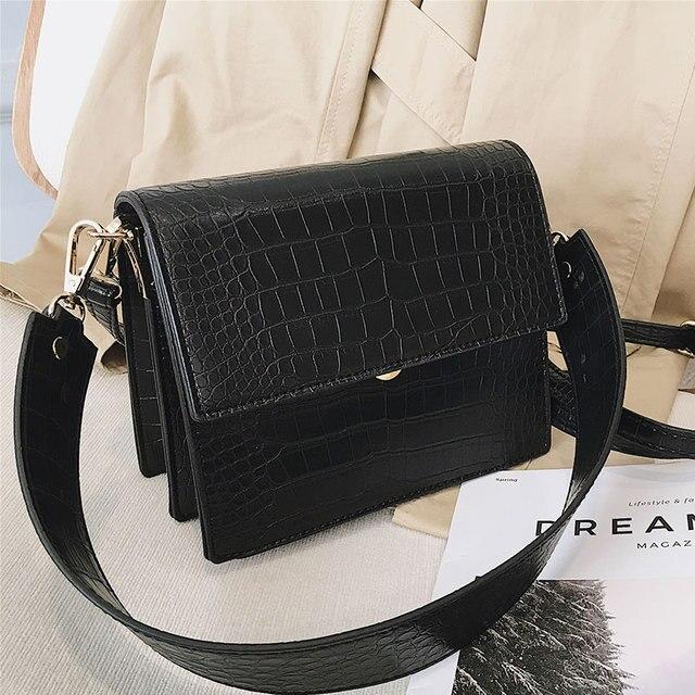 Women's Designer Luxury Handbag 2020 Fashion New High quality PU Leather Women Handbags Crocodile pattern Shoulder Messenger Bag 4
