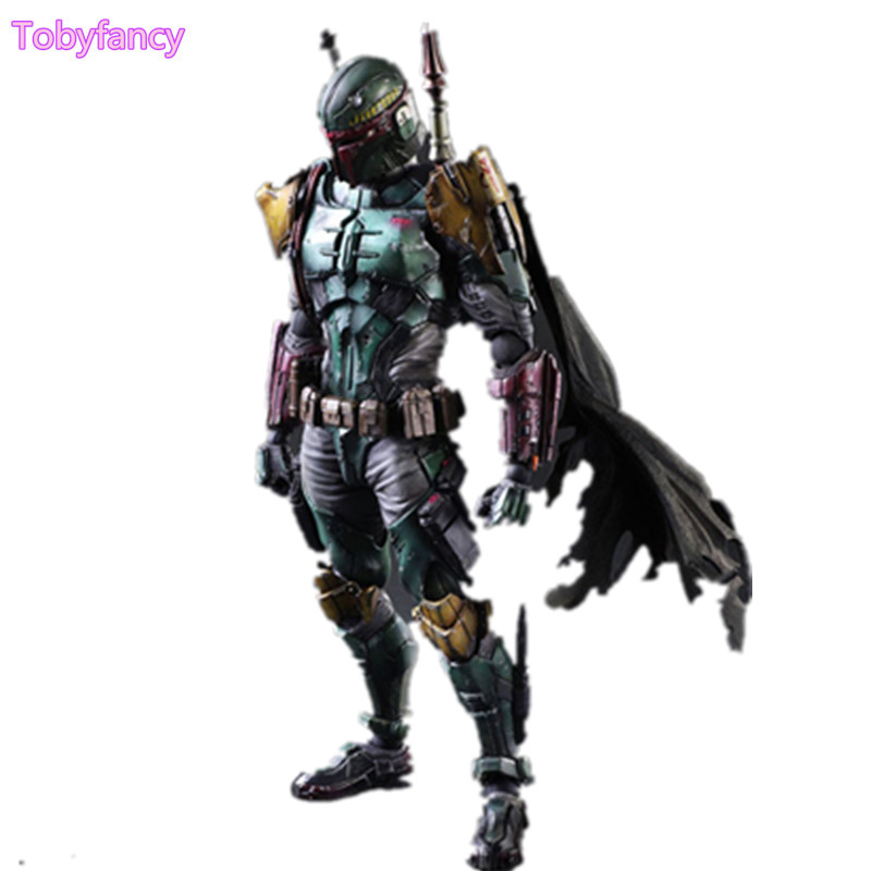 все цены на Star Wars Boba Fett Play Arts Kai Toys PVC Action Figure 260mm Anime Movie Toy Boba Fett Star Wars Playarts Figurine онлайн