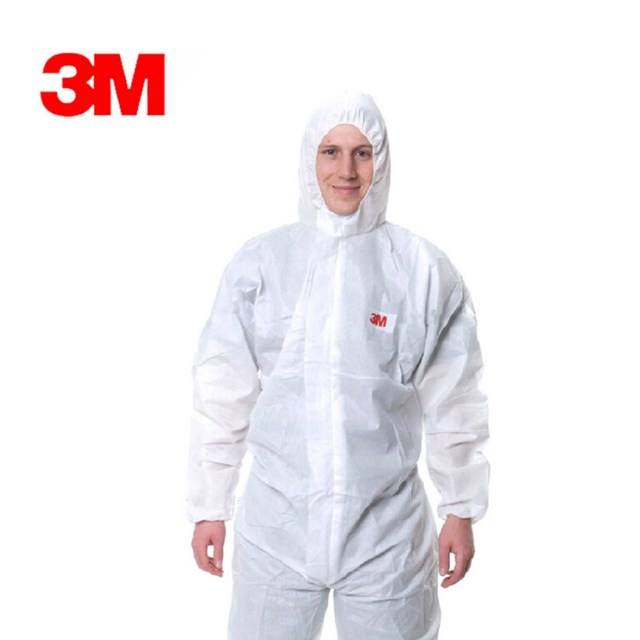 3M 4515 Safety Clothing Disposable Protective Coveralls White Hooded Anti Particulate Matter Liquid For Protective Clothing