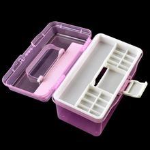 2-layer Detachable Desktop Storage Box Transparent Plastic Storage Box Jewelry Small Objects Organizer Holder Cabinets