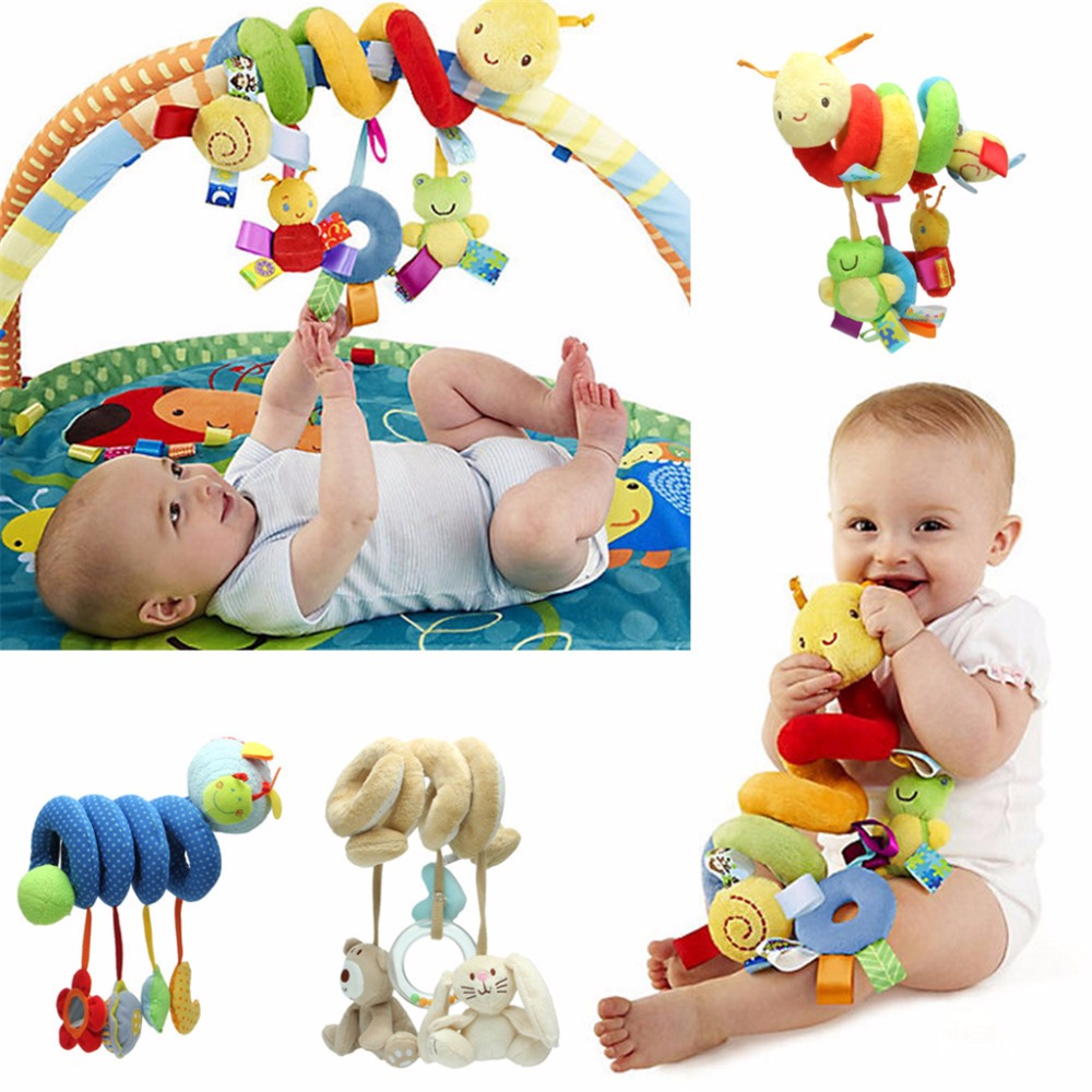 Baby Activity Spiral Stroller Car Seat Travel Lathe Hanging Toys Rattles Toy-m18