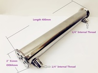 2(51mm)OD64, Sanitary Dephlegmator/ Distillation Condenser,6 Pipes Inside ID 8mm,Lenght 400mm,Reflux,Stainless Steel 304