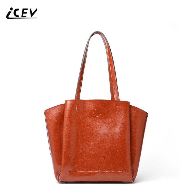 ICEV mode européenne dames bureau sacs à main en cuir véritable femmes sacs à main en cuir sacs ensemble sacs à main femmes marques célèbres