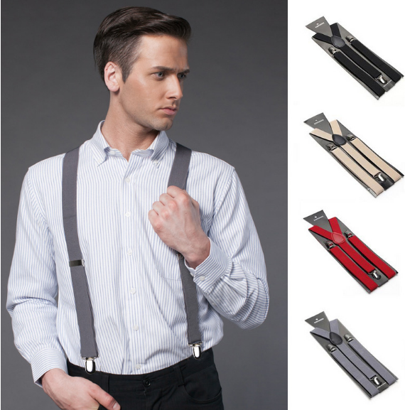 2018 Mens Womens Unisex Clip-on Suspenders Elastic Y-Shape Adjustable Braces Colorful For Female Male Fashion Accessory Apparel
