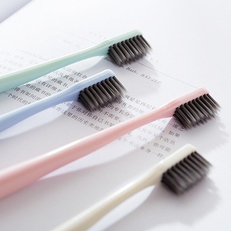 Супер мягкий бамбуковый уголь зубной щетки-один-путешествие во времени малый зубная щетка с цилиндр