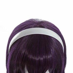 Image 5 - L email peruca para cosplay saenai heroine no sodateka utaha», peruca longa em roxo e cabelo sintético, para cosplay