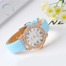 Cindiry Hot Sales Fashion Couple's Men's Women's Roman Dial Rose Gold Bling Crystal Bracelet Quartz Watch P15