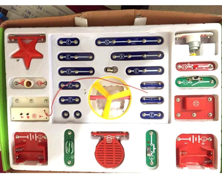 где купить 1 Set Creative199 Kinds Compound Mode Snap Circuits Electronics Discovery Kit Electronic Building Blocks Assembling Toys for Kid по лучшей цене
