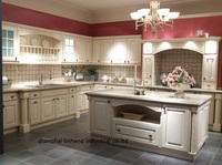 Pvc/винил кухонный шкаф (lh pv024)