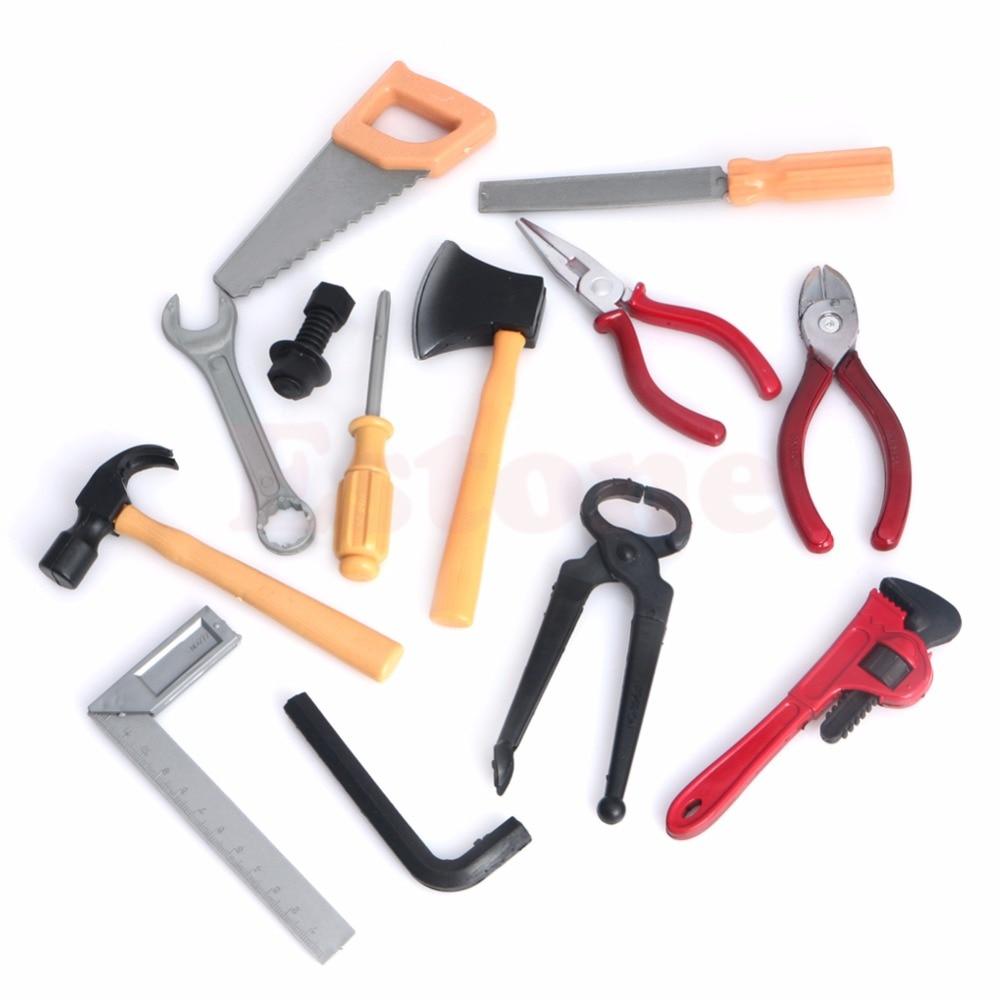 Nouveau 1 ensemble bricolage en plastique cadeaux enfants enfants garçon Construction réparation outils Kits ensemble Construction jouet