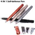4 IN 1 LAIX Self Defense Tactical Pen EDC Tool Tungsten Steel Glass Breaker / Knife Blade LED Flashlight Hammer Pen