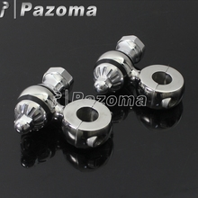 Polish Aluminum Motorbike Bar Clamps Handlebar Risers Universal Fit For Most Motorcycle With 7/8 22.2mm Clamp