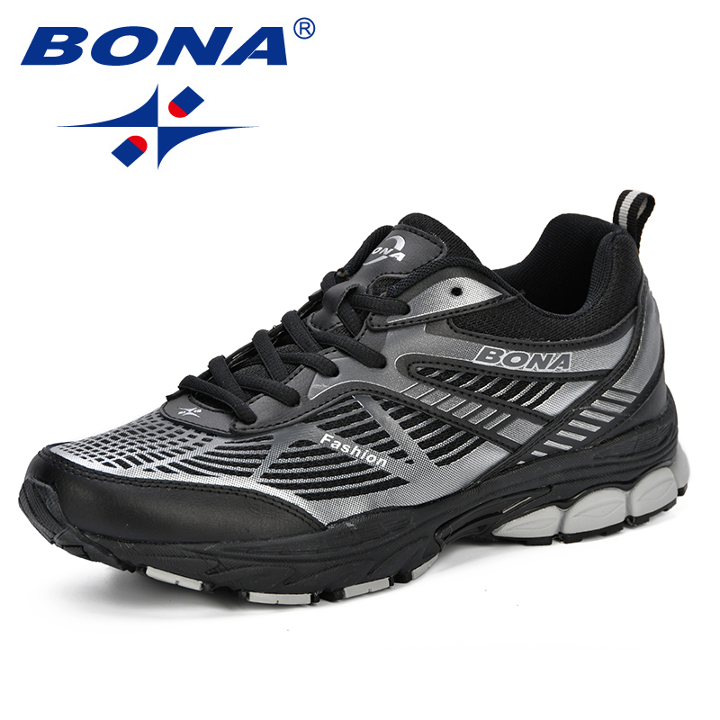 $31.74 BONA  2019 New Men Mesh Breathable Casual Sneakers Spring & Autumn Running Shoes Man Trendy Chaussures Hommes Zapatos # 35082