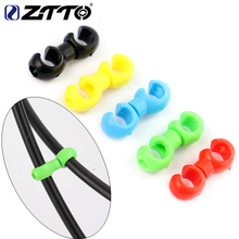 ZTTO 10Pcs Rotatable MTB Brake Line C/S Buckle Bike Derailleur Shift Cable Tube Pipeline Storage Device Ring Clasp
