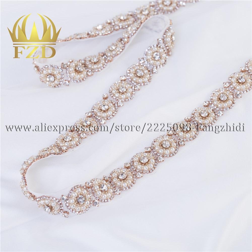 FZD 10 штук термоклейкие кристаллы стразы Ремни для платье для выпускного вечера Шитье с бусинами Свадебные поясок для свадебного платья со с