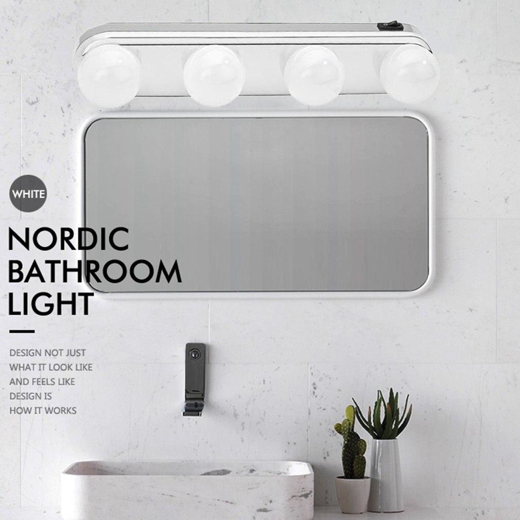 Studio Glow Machen Up Licht Super Helle 4 LED Lampen Tragbare Kosmetik Spiegel Licht Kit Batterie Powered Make-Up Licht