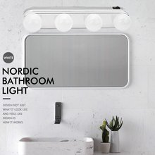 Студийный светящийся макияж свет супер яркий 4 светодио дный лампы Карманное косметическое зеркало свет комплект батарея питание макияж свет