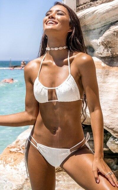 Buy white brazilian cut bikini