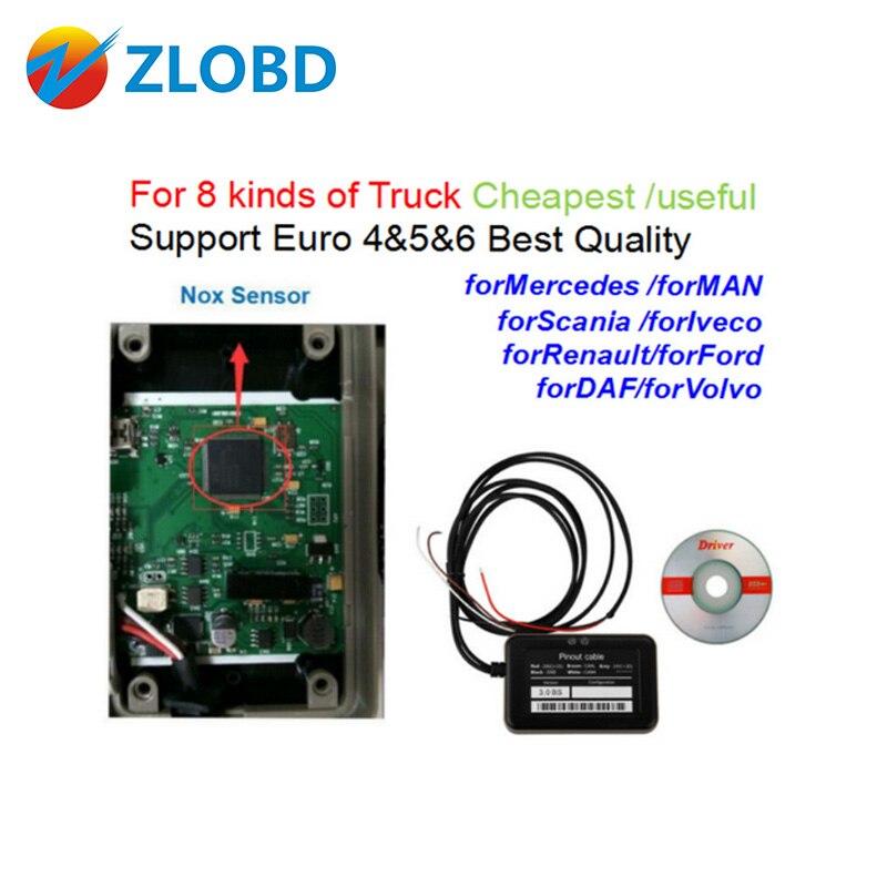 Prix pour ZOLIZDA Adblue 8in1 Camion Adblue Émulateur 8 en 1 Support Euro4 & 5 & 6 meilleur Qualité Adblue avec capteur NOx 3.0 dispositif adblue 8 en 1