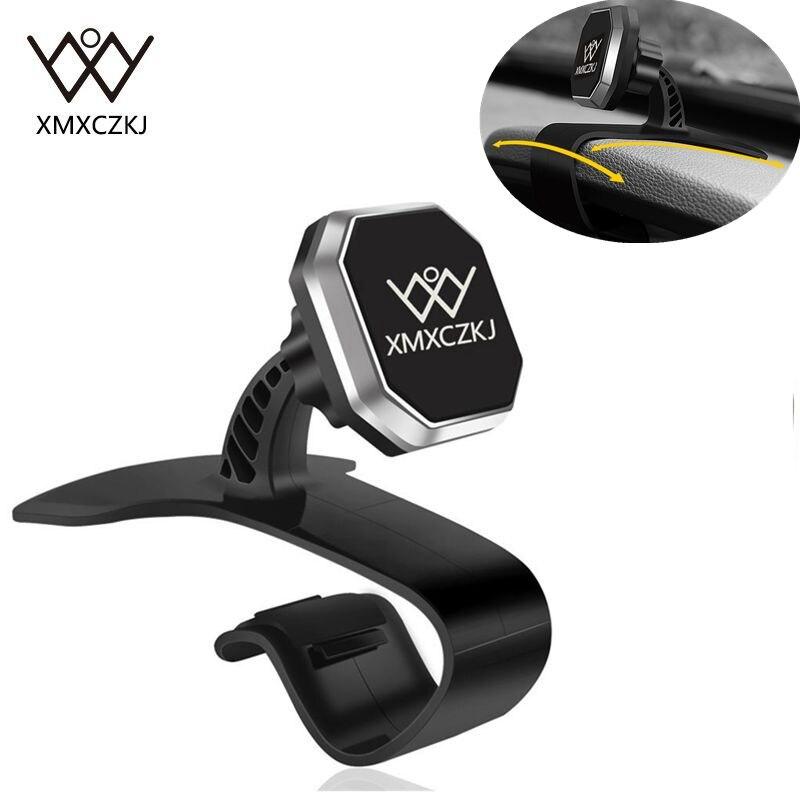 XMXCZKJ Più Nuovo Supporto da Auto Universale Car Dashboard Mount Magnetica Del Supporto Del Basamento Regolabile HUD Culla di Design per il Mobile Del Telefono Delle Cellule