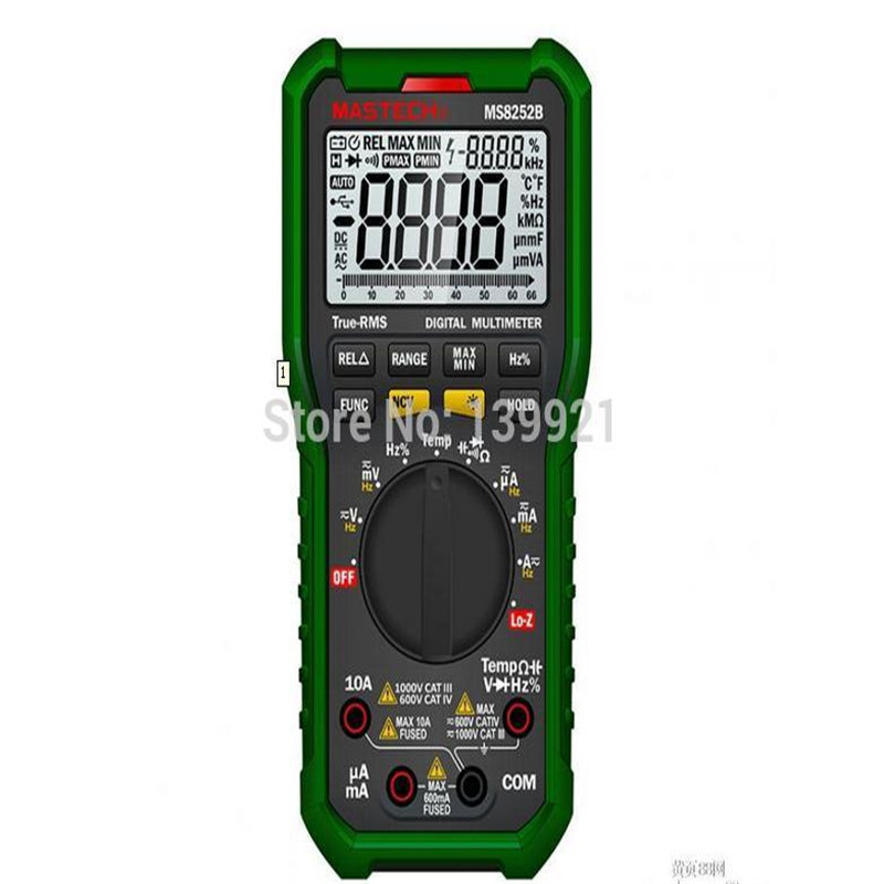Mastech multimeter MS8252B MAX&MIN MEASURATION auto LOW RESISTANCE INPUT pattern*YQ5