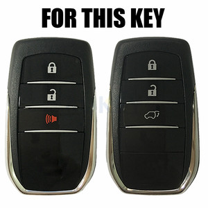 Image 2 - For Toyota Hilux Fortuner Land Cruiser Camry Silicone Remote Key Case Fob Shell Cover Skin Holder 3 Button 2016 2017 2018