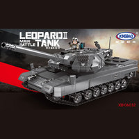 XINGBAO 06032 Military Series The Leopard 2 Tank Set Building Blocks Bricks Toys for Children Kids Educational Gifts
