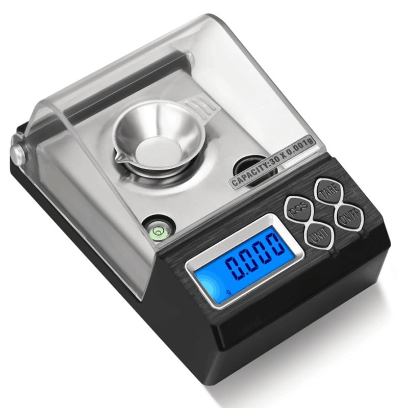 Цифровые весы для ювелирных изделий, 0,001 г, 20 г, 30 г, 50 г, 0,001 г