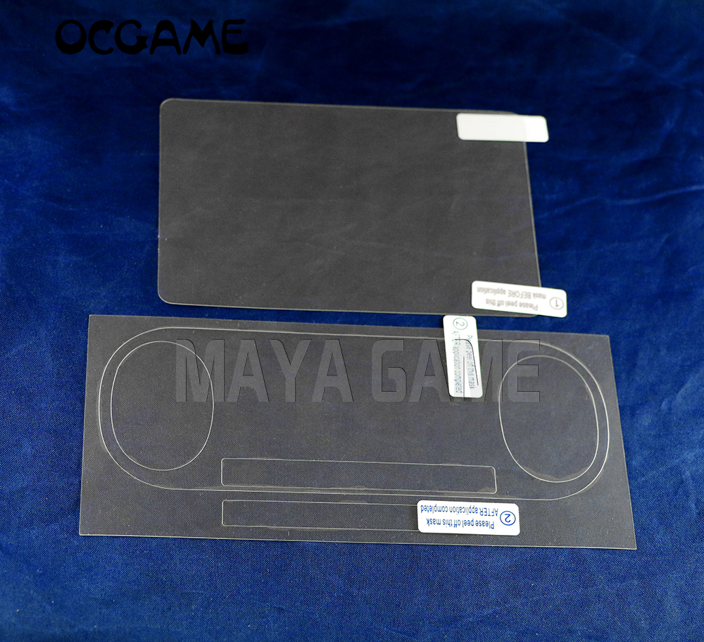 OCGAME Front Back HD Clear Film Surface Guard Cover for psv2000 Psvita <font><b>PS</b></font> <font><b>Vita</b></font> PSV <font><b>2000</b></font> LCD <font><b>Screen</b></font> Protector Wiper 10sets/lot image