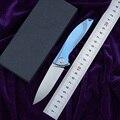NIGHTHAWK неоновый шарикоподшипник D2 TC4 titanium Флиппер складной Кухня фрукты Отдых на природе Охота на открытом воздухе Выжить Нож EDC